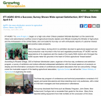 IFT-AGRO 2016 a Success; Survey Shows