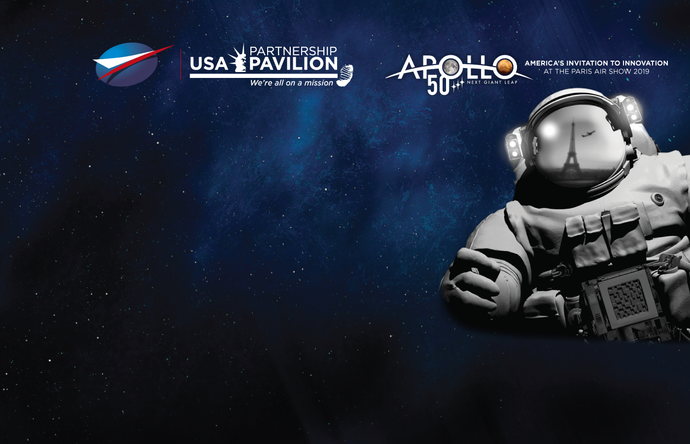 Paris Air Show 2019 USA Partnership Pavilion Apollo 50 Mission