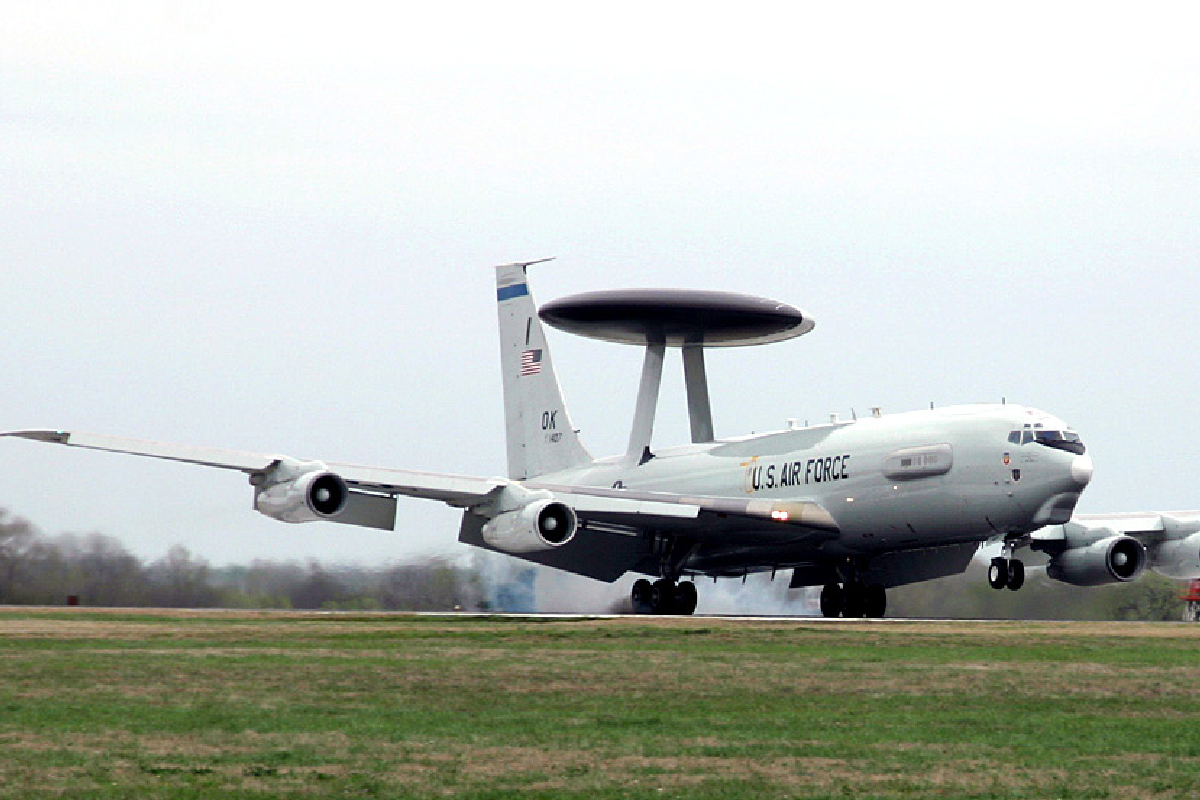 E-3<br />The E-3 Sentry is an airborne warning and control system, or AWACS, aircraft with an integrated command and control battle management, or C2BM, surveillance, target detection, and tracking platform.  The aircraft provides an accurate, real-time picture of the battlespace to the Joint Air Operations Center.