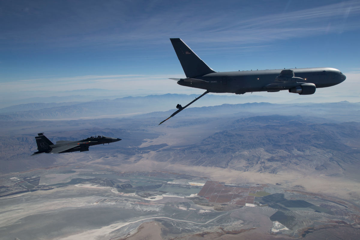 KC-46<br />The KC-46A is the first phase in recapitalizing the U.S. Air Force's aging tanker fleet. With greater refueling, cargo and aeromedical evacuation capabilities compared to the KC-135, the KC-46A will provide next generation aerial refueling support to Air Force, Navy, Marine Corps and partner-nation receivers.