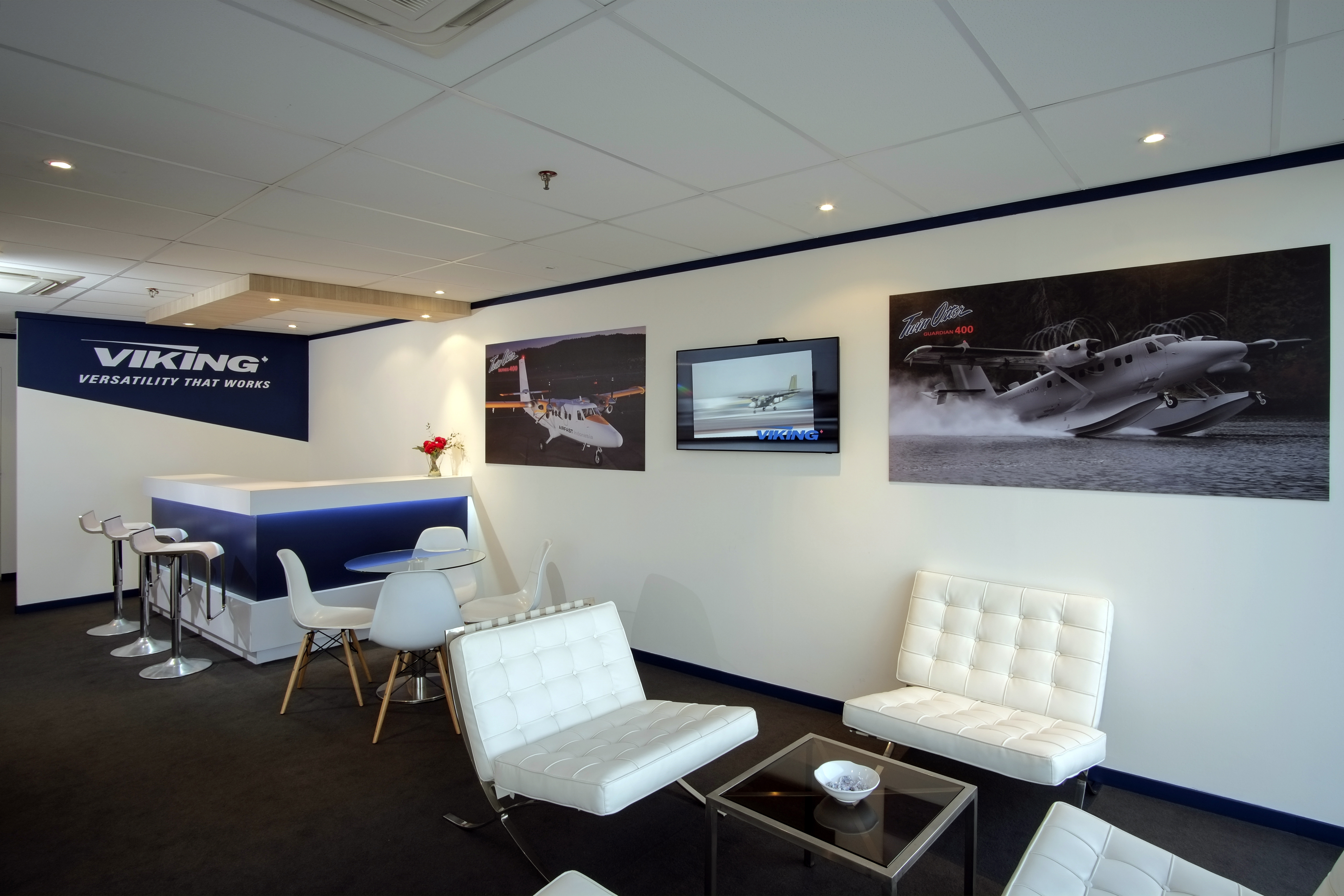 Creative Services custom Chalet for Viking Aerospace