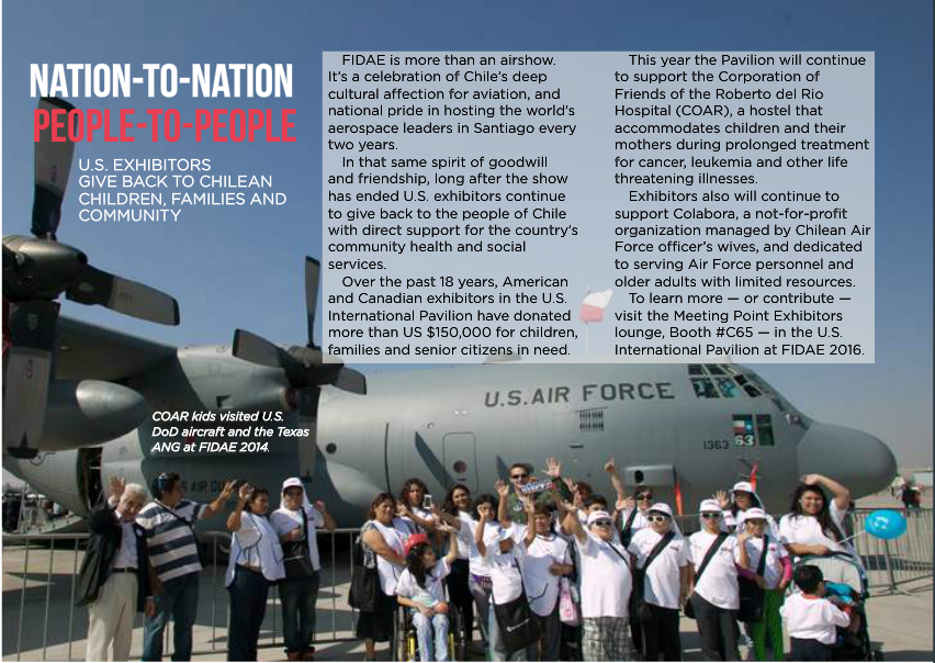Kids from COAR visited U.S. DoD aircrat and the Texas ANG at FIDAE